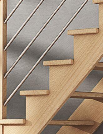 escalier ambiance graphic tube inox rampe droite