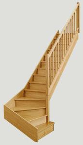 escalier Chene Kuteba les menuiseries Françaises