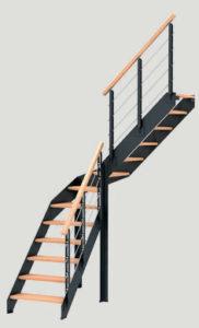 escalier DUO Club Plein les menuiseries Françaises