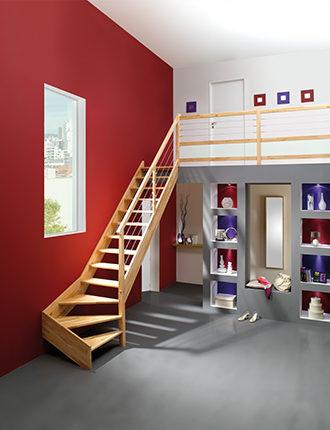 escalier en bois ambiance oslava