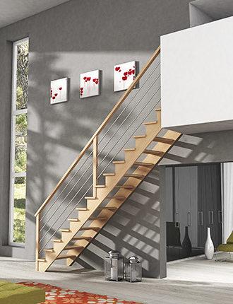 escalier en bois simple crémaillère ambiance graphic bois 2