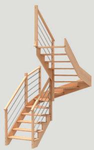 escalier GRAPHIC BOIS Simple Cremaillere les menuiseries Françaises