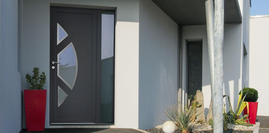 Porte d'entrée PVC confort + Mellite