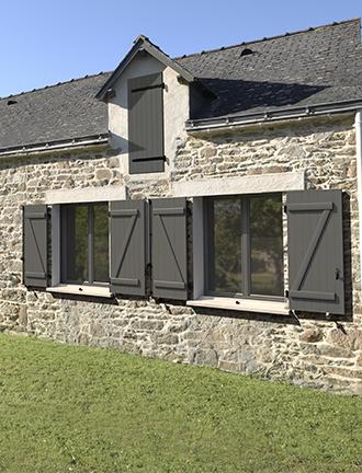 volet battant aluminium les menuiseries fran aises. Black Bedroom Furniture Sets. Home Design Ideas