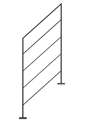 Balustrade en fer plat pour l'escalier LIAISON